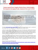 uninterrupted power supplies market share global