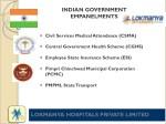 indian government empanelments