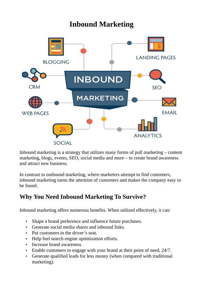 inbound marketing n.