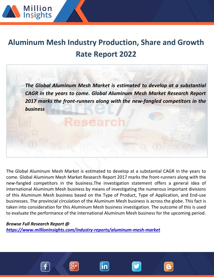 aluminum mesh industry production share n.