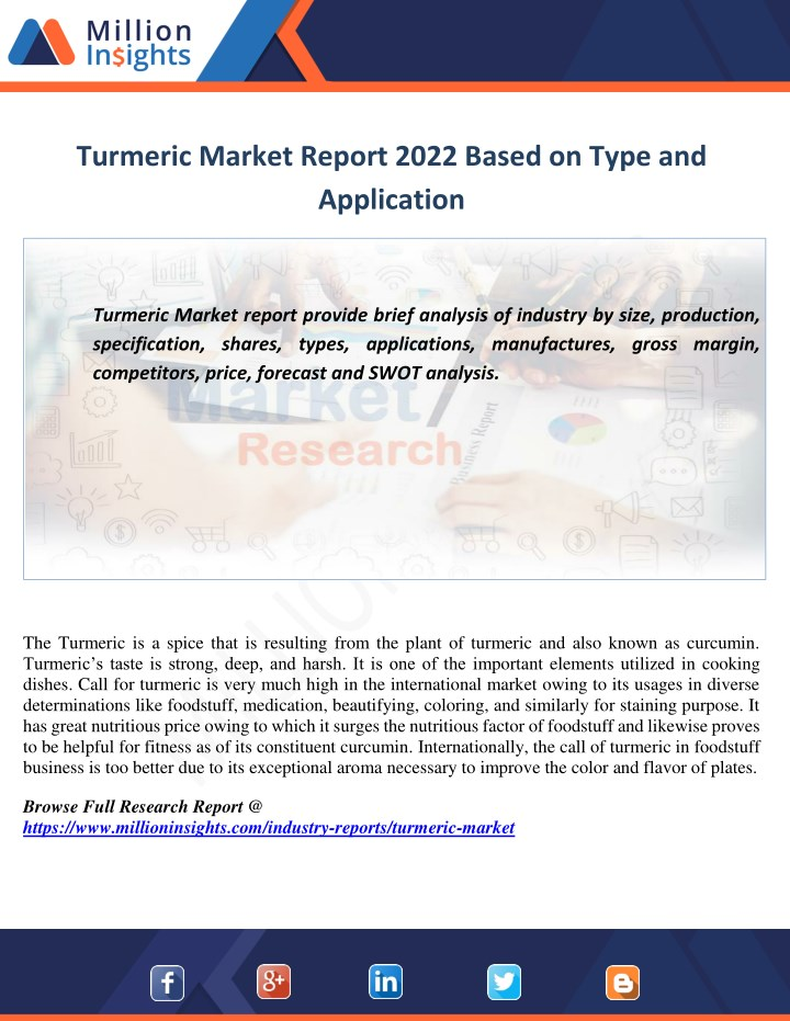 turmeric market report 2022 based on type n.
