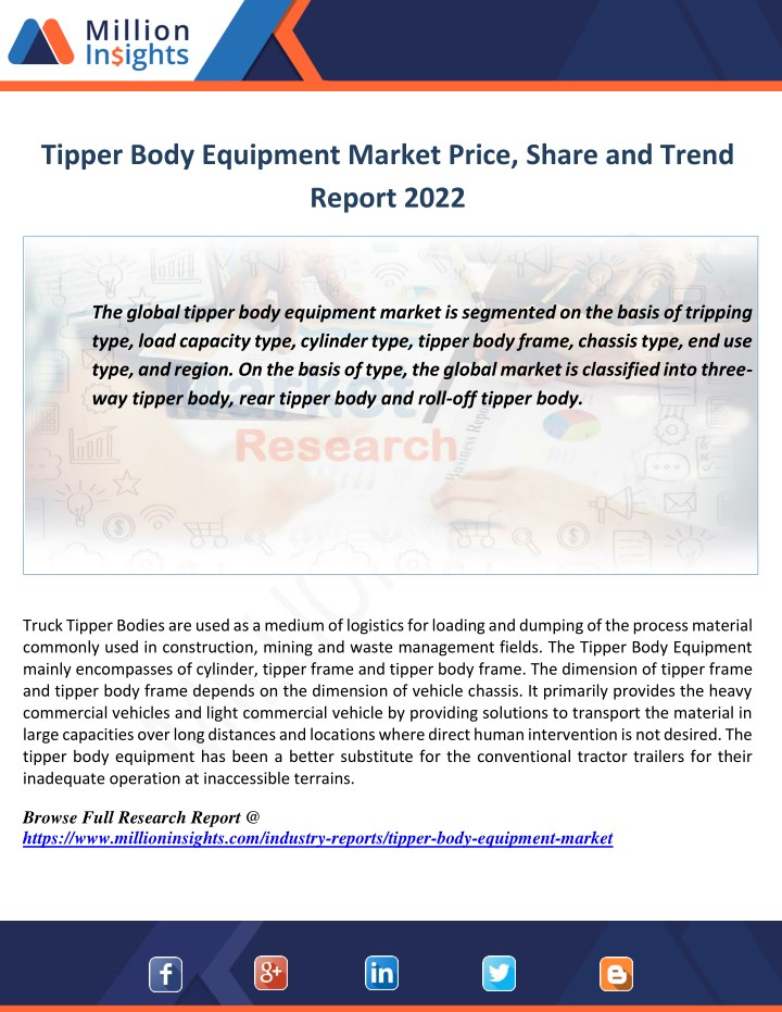 tipper body equipment market price share n.