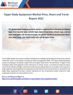 tipper body equipment market price share