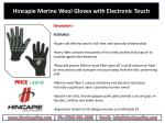 hincapie merino wool gloves with electronic touch
