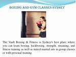 boxing and gym classes sydney