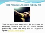 hire personal trainer sydney cbd