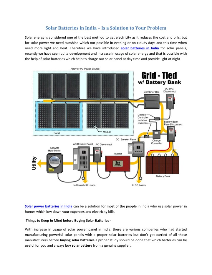 solar batteries in india is a solution to your n.