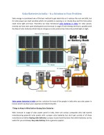 solar batteries in india is a solution to your