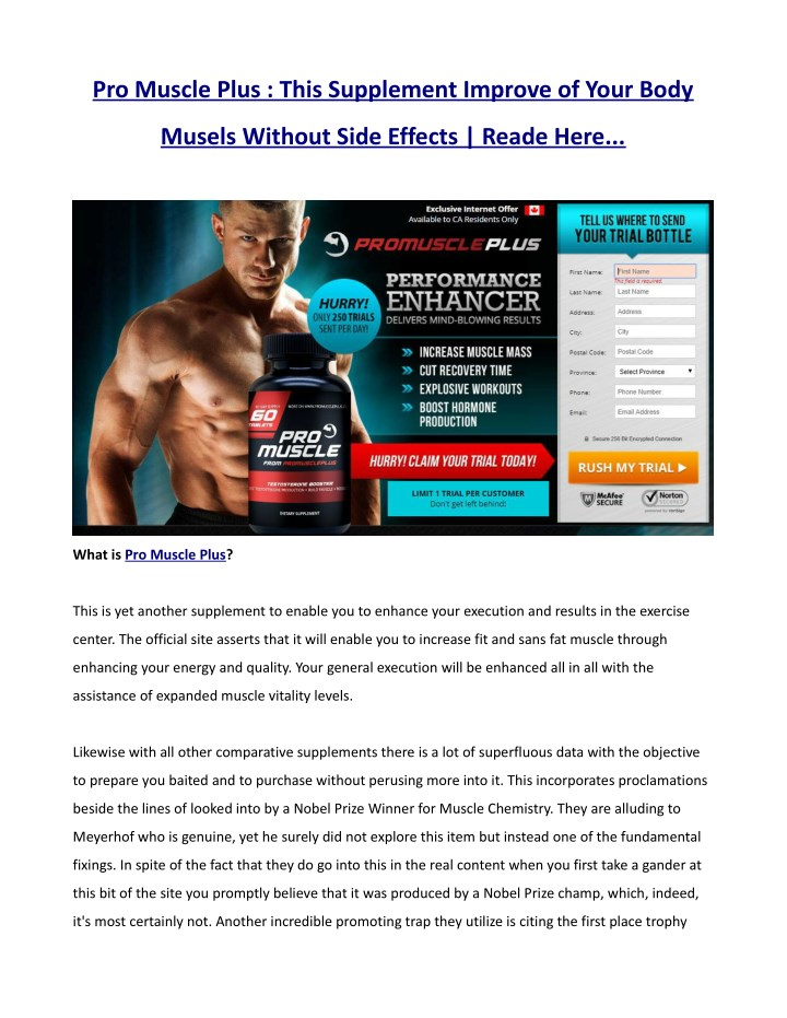 pro muscle plus this supplement improve of your n.