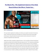 pro muscle plus this supplement improve of your