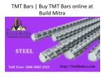 tmt bars buy tmt bars online at build mitra