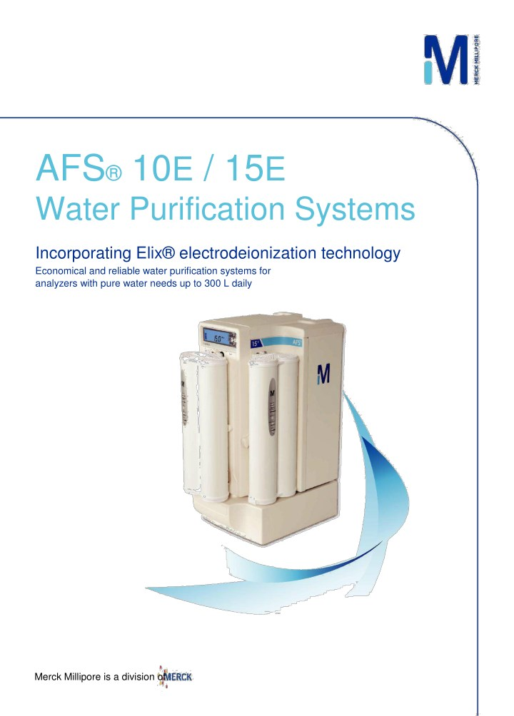 afs 10 e 15 e water purification systems n.
