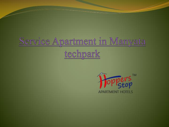service apartment in manyata techpark n.