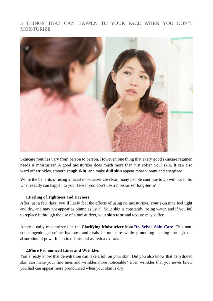5 things that can happen to your face when n.