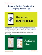 ozoprop technologies pvt ltd learn to explore