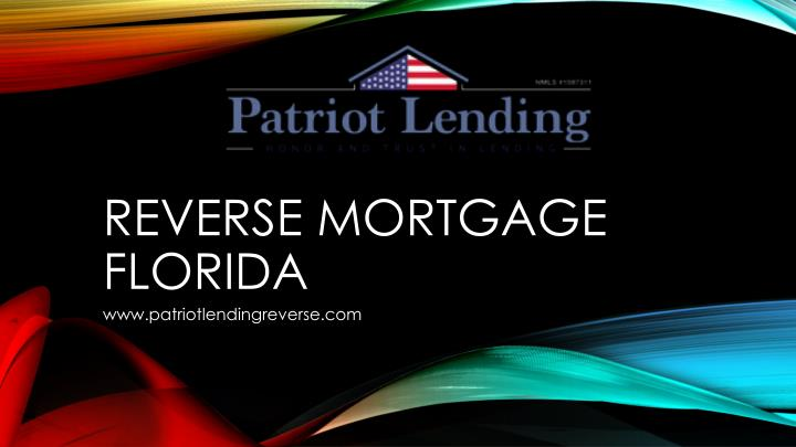 reverse mortgage florida n.