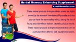 herbal memory enhancing supplement 5