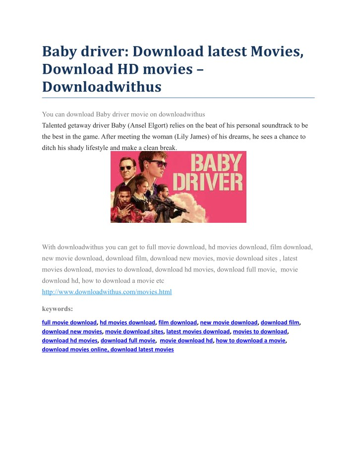 baby driver download latest movies download n.
