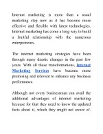 internet marketing step now as it has become more