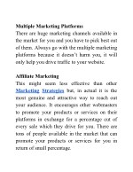 multiple marketing platforms there are huge