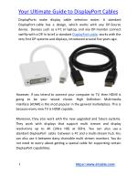 your ultimate guide to displayport cables