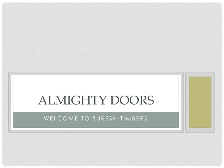 almighty doors n.