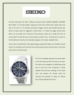 the best thing about the seiko 5 military