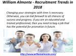 william almonte recruitment trends in 2018 1