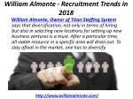william almonte recruitment trends in 2018 3