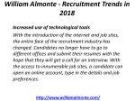 william almonte recruitment trends in 2018 4