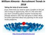william almonte recruitment trends in 2018 5