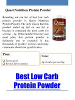 best low carb protein powder 1