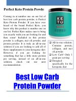 best low carb protein powder