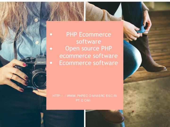 php ecommerce software open source php n.