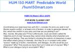 hum 150 mart predictable world hum150mart com 16