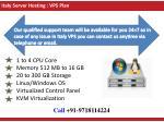 italy server hosting vps plan