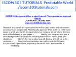 iscom 305 tutorials predictable world 1