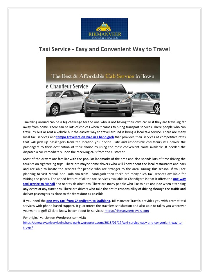 taxi service easy and convenient way to travel n.