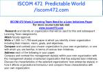 iscom 472 predictable world iscom472 com 12