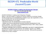 iscom 472 predictable world iscom472 com 21