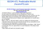 iscom 472 predictable world iscom472 com 8