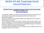 iscom 473 aid predictable world iscom473aid com 3