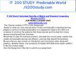 it 200 study predictable world it200study com 17