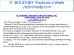 it 200 study predictable world it200study com 19