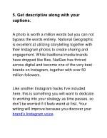 5 get descriptive along with your captions