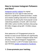 how to increase instagram followers and likes