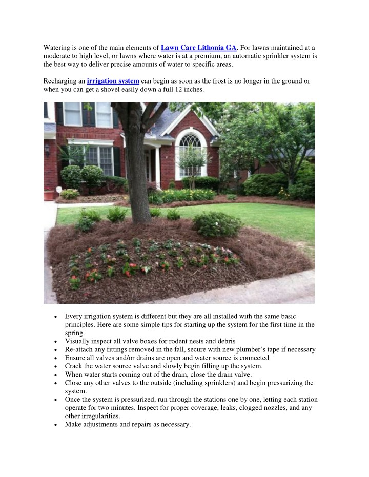 watering is one of the main elements of lawn care n.