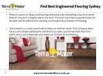 find best engineered flooring sydney