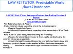 law 421 tutor predictable world law421tutor com 13