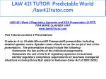 law 421 tutor predictable world law421tutor com 16